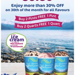 New Zealand Natural: 30% OFF on 30th of the Month for All Flavours