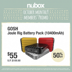 nübox: GOSH Joule Rig Battery Pack (10400mAh) @ $55
