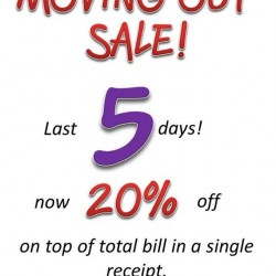 Kipling: Moving Out Sale for Last 5 Days