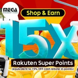 Rakuten Shopping: 5X of Super Points (15X Points = 15% Rebate)