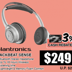 Go.BestDenki: Plantronics BackBeat Sense Headphones @$249 OFF(UP $279)