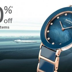 Bering Time: Selected Watch @40% OFF.