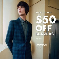 F3: Prom Night in Smarts and Suits with $50 OFF Blazers.