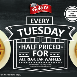 Geláre: Half Priced for All Regular Waffles