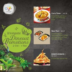 Westgate: DineOut Promotion--spot Of Asian Dining.
