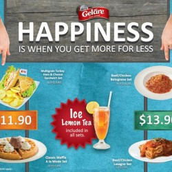 Gelare: happiness bundle meals-- Get more for less @The Star Vista