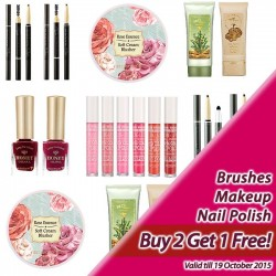 Skinfood: Buy 2 Get 1 Free for Brushes, Makeup, and Nail Polish