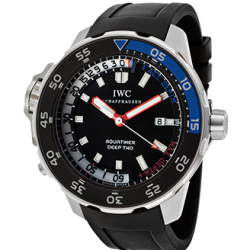 IWC: Take 50% on Men's Aquatimer Deep Two Automatic Black Rubber and Dial Via Coupon code.