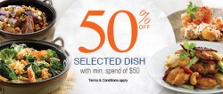 Crystal Jade - 50% OFF Selected Dish for DBS/POSB Cardmembers