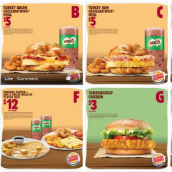Burger King: Great Festive Savings--Meals