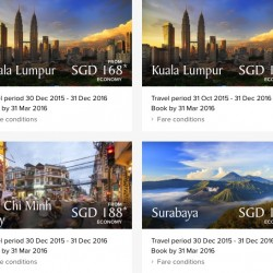 Singapore Airlines: Fare Deals for Travel in 2016