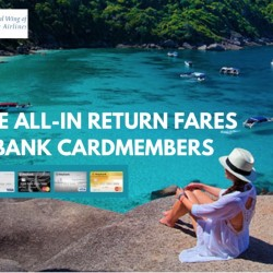 SilkAir: Exclusive All-In Return Fares for Maybank Cardmembers