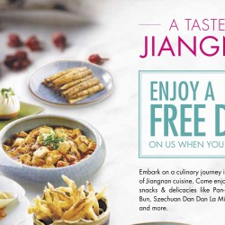 Crystal Jade: Free Dish with $40 spend for DBS/POSB Cardmembers
