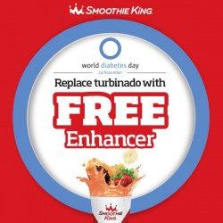 Smoothie King: Replace Turbinado with Free Enhancer