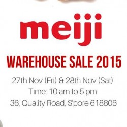 Meiji: Warehouse Sale 2015