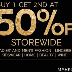 Marks and Spencer: Black Friday 50% OFF 2nd Purchase