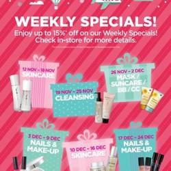 THEFACESHOP: 15% OFF Weekly Specials