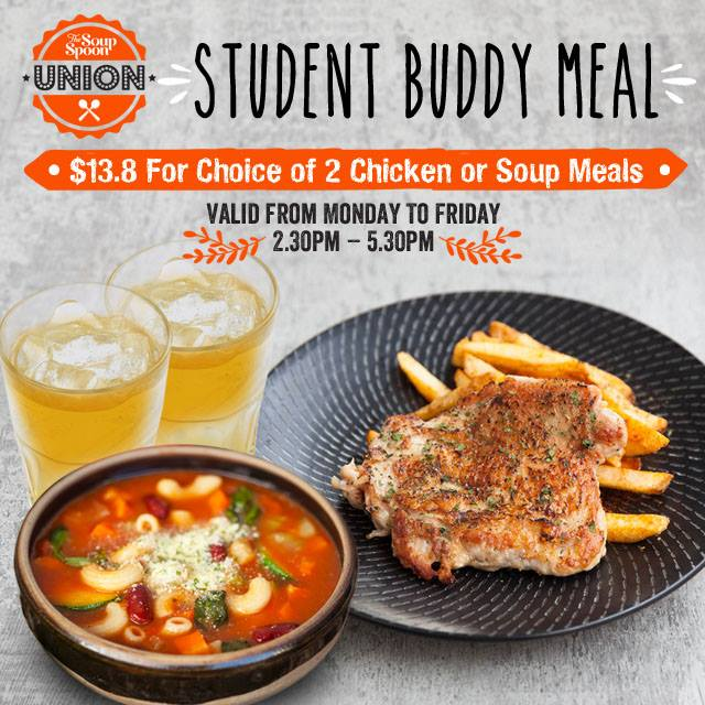 Soup spoon student meal