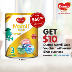 Dumex: Mamil Gold Voucher with nett purchase of $100 @Take $10.