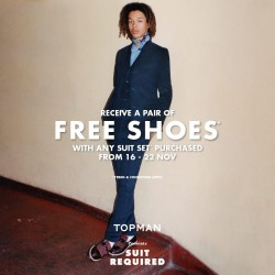 F3: Free Shoes with Any Suit Set Purchased