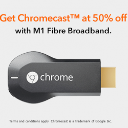 M1: Fibre Broadband 1Gbps or GamePRO 1Gbps plan @50% OFF (U.P. $65)
