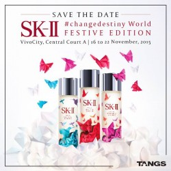 TANGS: SK-II gift at the SK-II Gift Catcher with min. $99 Purchase