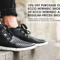 ECCO Shoes: 10% OFF Purchase of Any 2 Pairs of ECCO Intrinsic Shoes