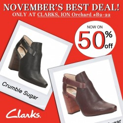 Clarks: Special Nov Promo 50% OFF Selected Shoes at ION