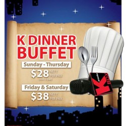 K Box Karaoke: K Dinner Buffet Deal