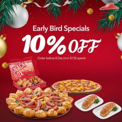 Pizza Hut: 10% OFF Order Before 8 Dec (min $150 Spent)