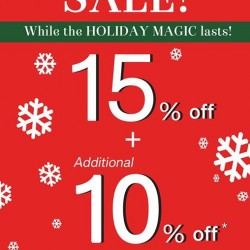 Clarks: Holiday Sale @15% OFF + Additional 10% OFF
