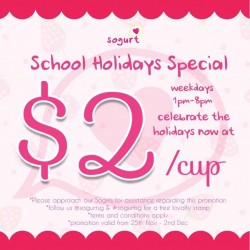 Sogurt: School Holidays Special
