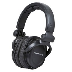 Amazon: Monoprice Hi Fi DJ Style Acoustic Pro Studio Detachable 50 inch Cable Durable Max Comfort High Quality Sound Headphones Works with iPad iPhone Android Devices.