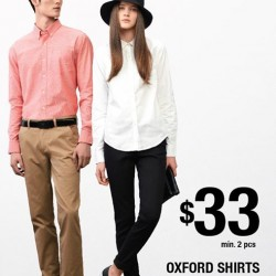 GIORDANO: Oxford Shirts @ $33 min. 2 pcs