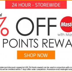 Rakuten: Extra 5% OFF with MasterCard + Extra 5X Points Reward