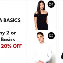 Zalora: Buy any 2 or more Basics and get 20% OFF