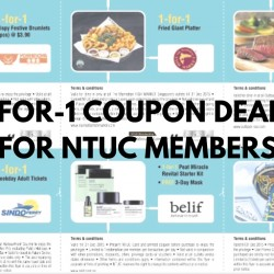 NTUC: 1-for-1 Coupon Deals for Members