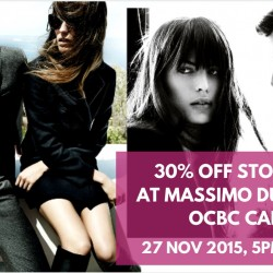 Massimo Dutti: Black Friday Sale 30% OFF Storewide with OCBC Cards