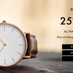 Daniel Wellington: Black Friday Sale 25% OFF All Watches and Straps