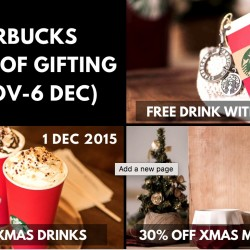 Starbucks: Special Offers 1-for-1 and 30% OFF Selected Xmas Merchandise