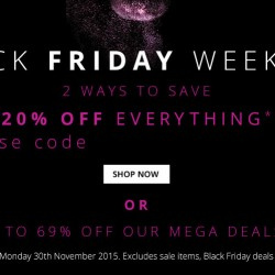 FeelUnique: Black Friday 20% OFF Everything