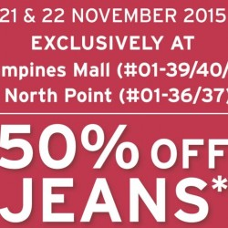 Levi's: 50% OFF Selected Jeans (min. 2 pcs) and Free Levi's Watch