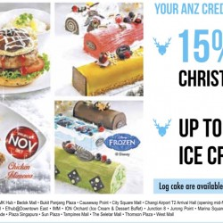 Swensen's: 15% OFF Christmas Main Dishes & Ice Cream Log Cakes for ANZ cardmembers