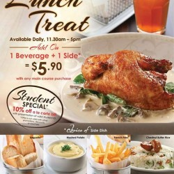 Poulét- Amazing French Roast Chicken: Newly launched Add On option Get 1 beverage + 1 side @$5.90.