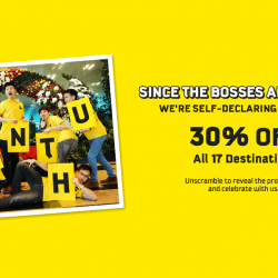 FlyScoot: 30% OFF All Scoot Destinations!