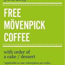 Marché Mövenpick: Free Mövenpick Coffee with Orders of a Cake/ Dessert