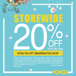 OG: The Joy Of Giving Storewide @Save 20% OFF