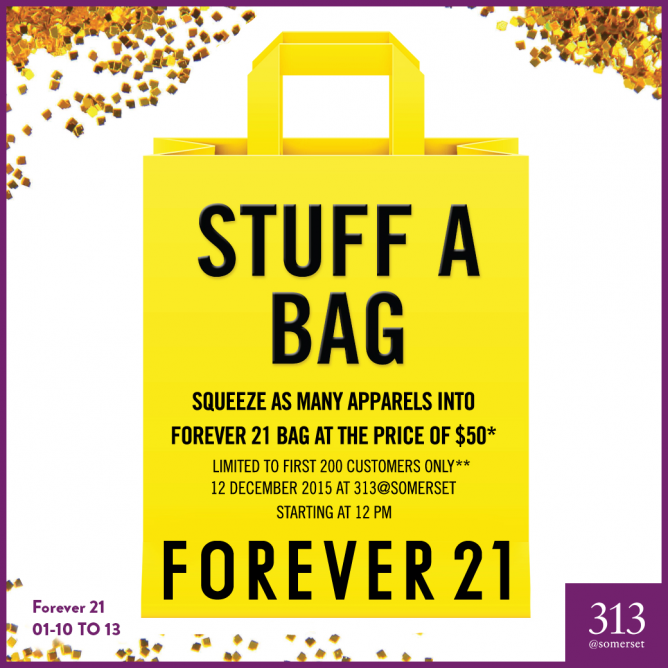 Forever 21 Singapore: Grab A Bag of F21 Apparels at $50