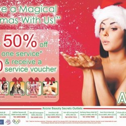 AvonE Beauty Secrets: 50% OFF Any One Service & Receive a $50 Service Voucher