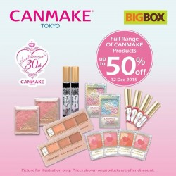 Big Box: Canmake's 30th Anniversary @Save Up to 5o% OFF.